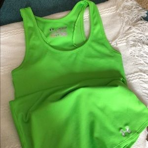 Bright green Under Armour top